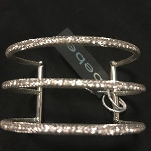 Silver Triple Cuff Bracet